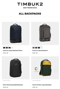 Sport offers in the Timbuk2 catalogue ( 4 days left)