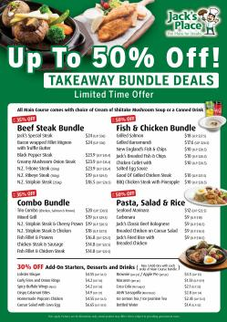Restaurants offers in the Jack's Place catalogue ( 1 day ago)