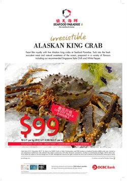 Offers from Seafood Paradise in the Singapore leaflet