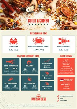 Offers from Dancing Crab in the Singapore leaflet