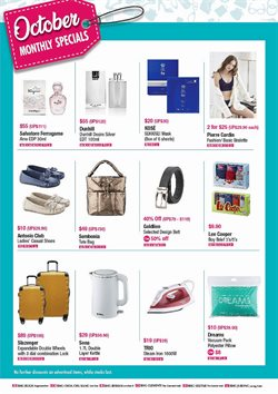 Offers from BHG in the Singapore leaflet