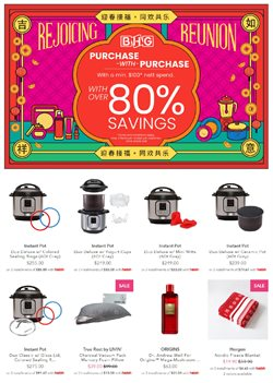 Department Stores offers in the BHG catalogue in Singapore ( 6 days left )