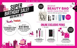 Department Stores offers in the BHG catalogue ( Expires tomorrow)
