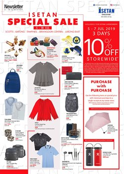 Offers from Isetan in the Singapore leaflet