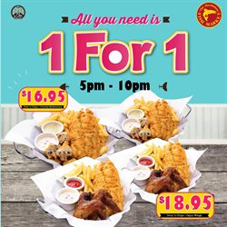 Offers from Manhattan Fish Market in the Singapore leaflet