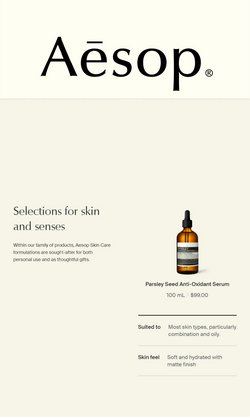 Beauty & Health offers in the Aesop catalogue in Singapore ( 4 days left )