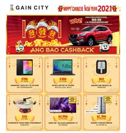Electronics & Appliances offers in the Gain City catalogue in Singapore ( 3 days ago )