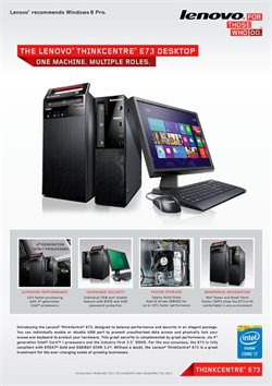 Electronics & Appliances offers in the Lenovo catalogue ( More than a month )