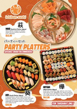 Restaurants offers in the Ichiban Sushi catalogue ( Expires tomorrow)
