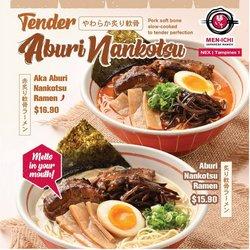 Restaurants offers in the Men-Ichi catalogue ( Expires Today)