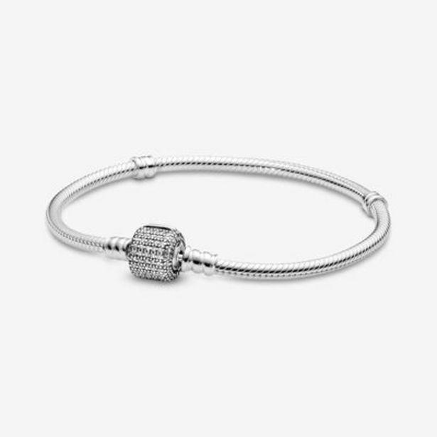 Pandora Moments Sparkling Pavé Clasp Snake Chain Bracelet offers at S$ 159
