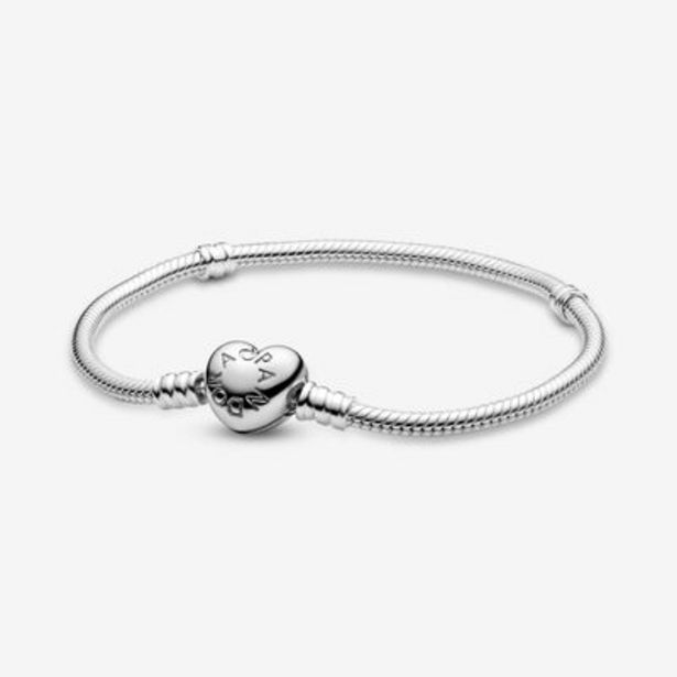 Pandora Moments Heart Clasp Snake Chain Bracelet offers at S$ 129