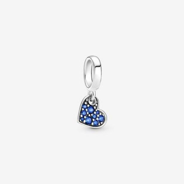 Stellar Blue Pavé Tilted Heart Dangle Charm offers at S$ 59