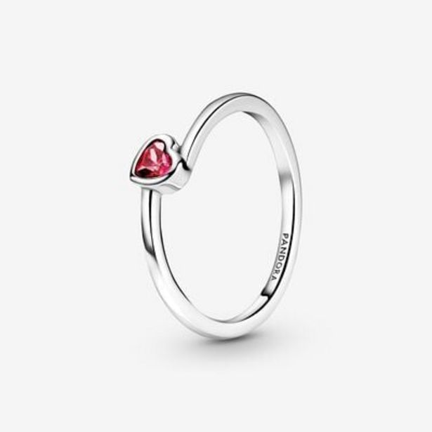 Red Tilted Heart Solitaire Ring offers at S$ 69