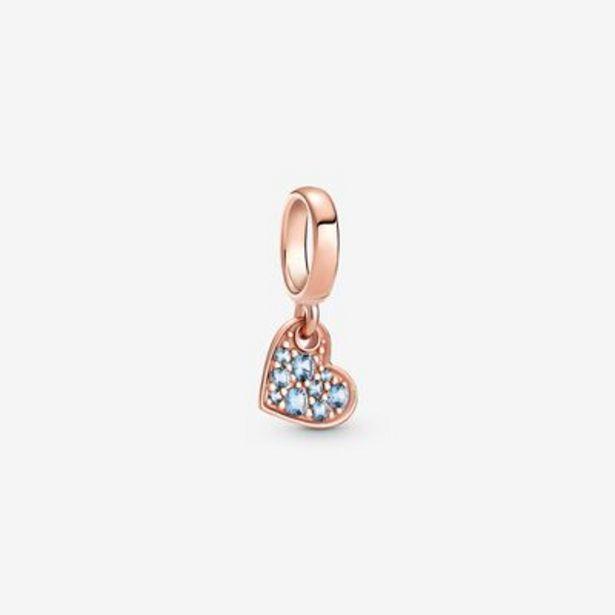 Light Blue Pavé Tilted Heart Dangle Charm offers at S$ 59