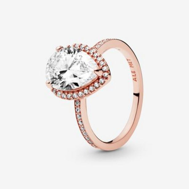 Sparkling Teardrop Halo Ring offers at S$ 249