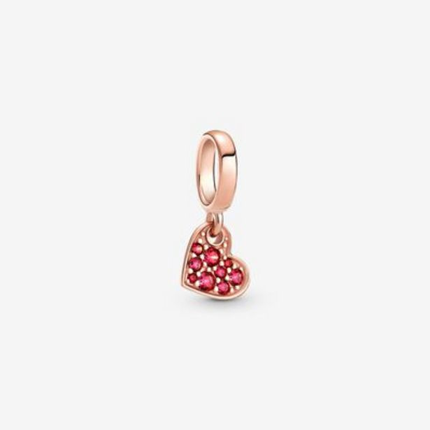 Red Pavé Tilted Heart Dangle Charm offers at S$ 69