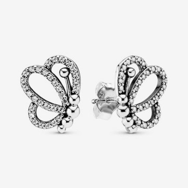 Sparkling Openwork Butterfly Stud Earrings offers at S$ 99