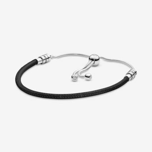 Pandora Moments Black Leather Slider Bracelet offers at S$ 99