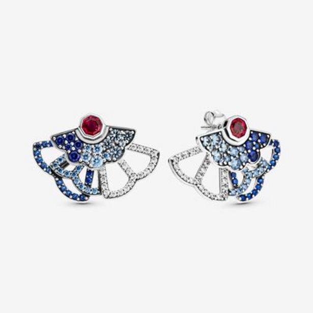 Blue & Pink Fan Statement Stud Earrings offers at S$ 179