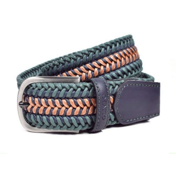 Olimpo Woven Belt in Green — Size105cm offers at S$ 219