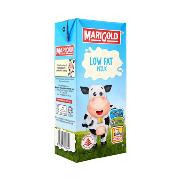 Marigold UHT Low Fat Milk (1L) offers at S$ 2.75
