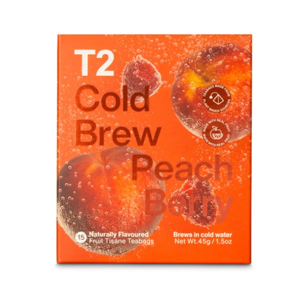 T2 PEACHBERRY COLD BREW 15PK BOX offers at S$ 18