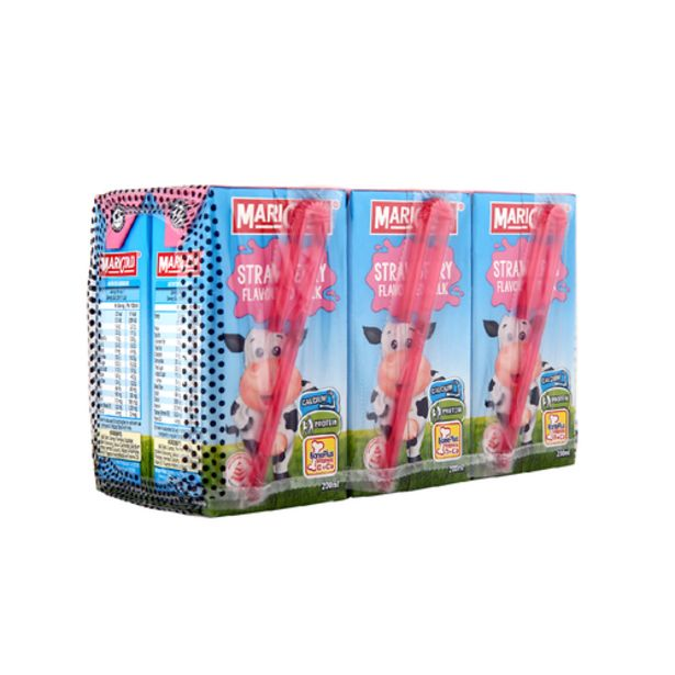 Marigold UHT Strawberry Flavoured Milk (200ml x 6's) offers at S$ 4.95