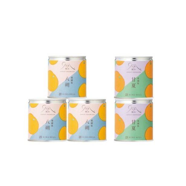 Japan Premium Eihime Orange Cans (Hassaku Orange 259g×3 , Amanatsu Orange×2) offers at S$ 65