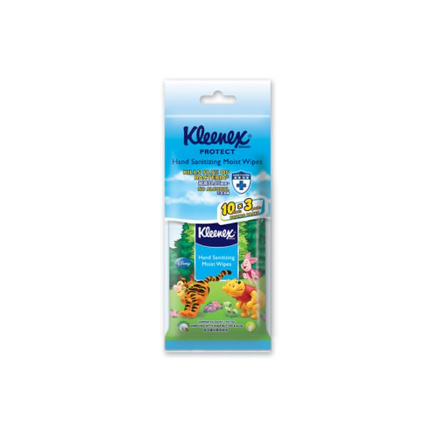 Kleenex Protect Hand Sanitizing Moist Wipes (Disney) (10's x 3) offers at S$ 3.2